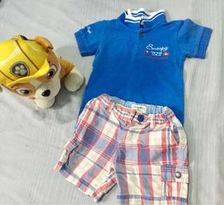 Polo shirt and short terno