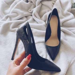 ZARA Woman - Black Leather Heels