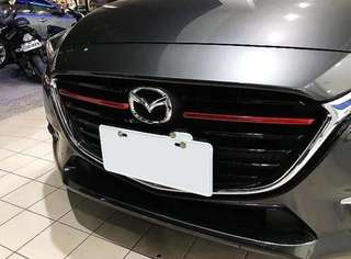 Mazda 3 2017/2018 skyactiv grill cover red