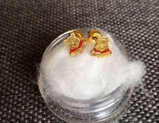 Earrings Winnie the Pooh Bear Disney