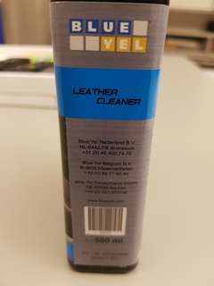 Blue Yel leather cleaner