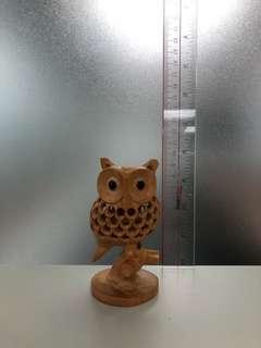 貓頭鷹 擺設 日本 木製