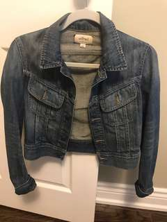 Aritzia - Wilfred cropped jean jacket - xs