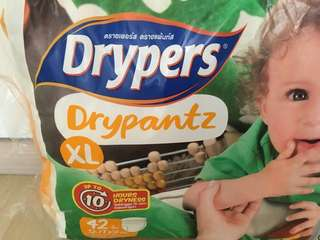 Diapers-Drypers size XL