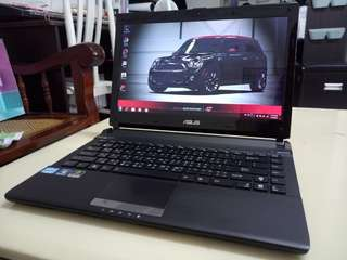 Asus Thin i5/win7/4Gb/320Gb Hdd/14.5 inch/Gaming