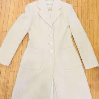 Banana Republic Ivory Wool Coat Sz S