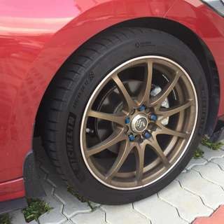 """Wts: Original 17"""" Volks Racing CE28NF rims only"""