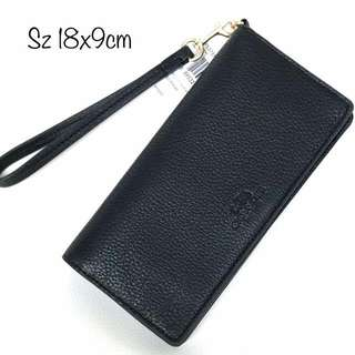 Coach Slim Wallet Pebbled Leather