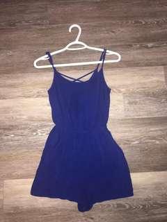 H&M Royal Blue Romper