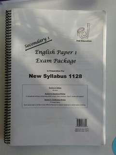 Used Sec 1 English Paper 1 Exam Package