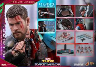 Hot toys 全新未開盒 MMS445 Thor雷神 Gladitor Thor Deluxe