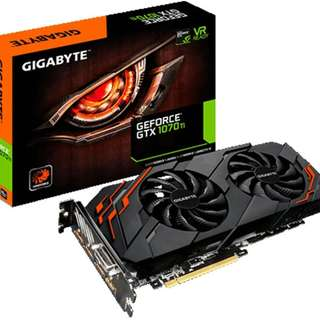 Gigabyte GeForce GTX 1070Ti Windforce 8GB Graphics Card - SKU: GV-N107TWF2-8GD