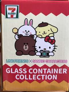 7-11 Line Friends / Sanrio Glass Container Collection