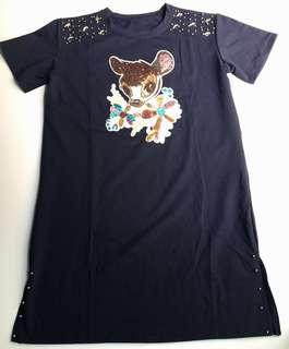🚚 Bambi sequins dress sz XL/ NAVY color