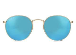 Round Metal RB3447 Polarized Sunglasses Ray-Ban