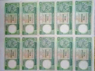 香港𣾀豐十元鈔低價出