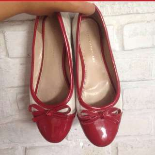 Flats shoes red yongkie