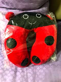 Lady Bug Neck Travel Pillow