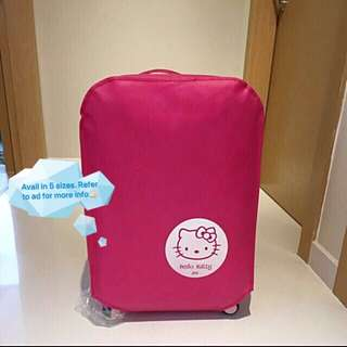 """Brand New Hello Kitty Non Woven material thick luggage protector cover 😁 Avail in 5 sizes 20"""" & 22"""" @ $10, 24"""" @ $11, 28"""" @ $12, 30"""" @ $13"""