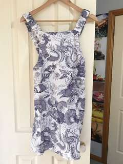 Apron tie dress, Tree Of life