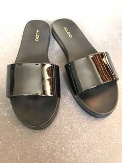 Aldo BLACK Patent Slip On