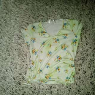 mint green blouse med size