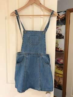 Pinafore denim skirt/dress