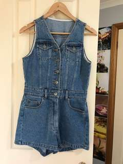 Denim playsuit Bardot sz10