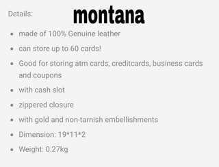 Montana Genuine leather purse