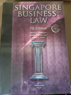 NTU NBS AB1301 Singapore Business Law 7th Edition