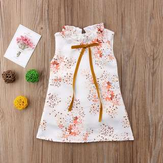 Instock - English floral dress, baby infant toddler girl children cute glad 123456789 lalalala