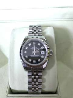 Rolex DATEJUST for ladies 28mm FULL STEEL with diamonds