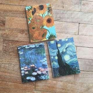 Van Gogh & Monet Mini Notebooks (TAKE ALL)