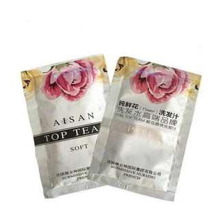 Asian top team shampoo & hair mask traveling pack