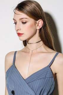 chocker necklace metal set layering套裝金屬短頸鏈
