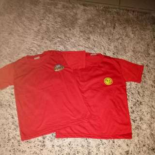 Red tshirts size small