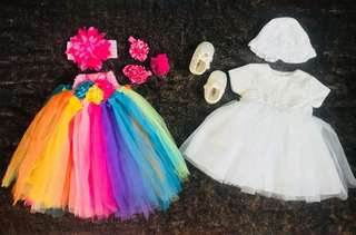 Preloved Tutu Dress and Baptismal Gown