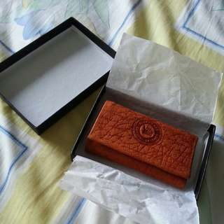 Elephant leather key wallet