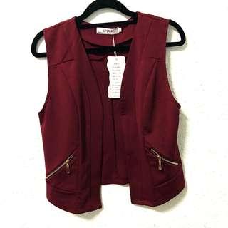BNWT Maroon Vest