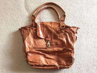 Lamb skin handbag