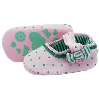 Green Polka Pink Shoes
