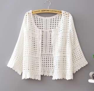 (Free Size) Crochet Cardigan