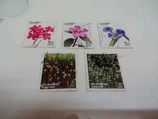 Thailand Stamps 5V Flower Used