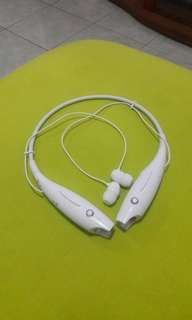 Headset Bluetooth LG HBS 730 Wireless Stereo White