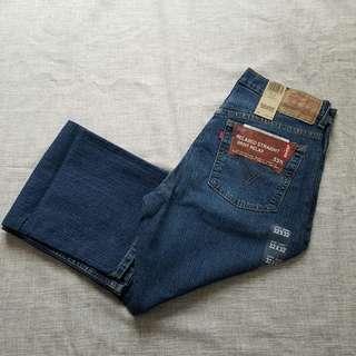 Levi's 男裝藍色長牛仔褲 528