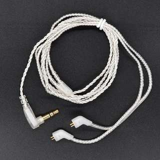 Brand New KZ ZST ZSR / ZS3, ZS5, ZS6 Silver Cable