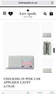 Kate Spade Checking in Pink Car Wallet