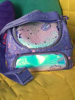 Smiggle Lunch Box - Dreamy Collection Reversible sequins