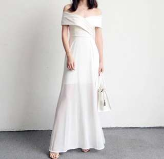 White dress for ROM / Party / wedding (size L)