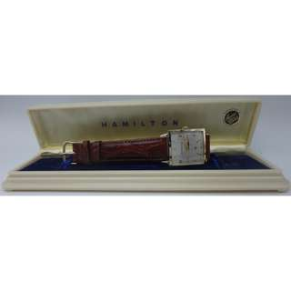 HAMILTON 14k金 Award Watch+22j +小三針上鍊錶+14k金扣 W/Award Watch Box